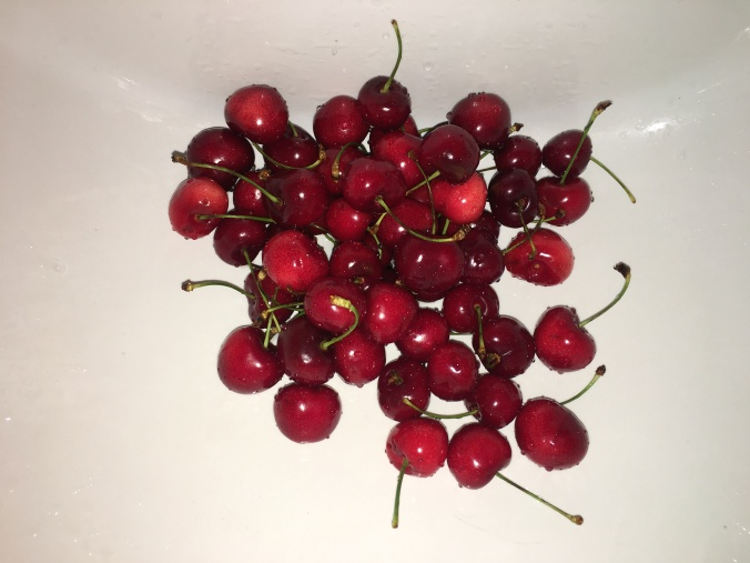 The cherries were a good snack the next day.