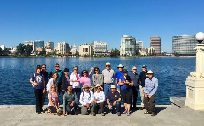 October 2017 Lake Merritt Walk. Extra credit for Abigail for doing a lap around Lake Merritt before this walk for a fundraiser for Oakland schools. And for her fabulous Ta-Da! pose!