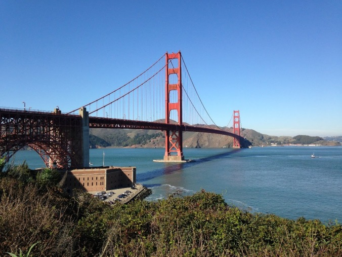 Golden Gate Bridge from Battery East Trail, San Francisco