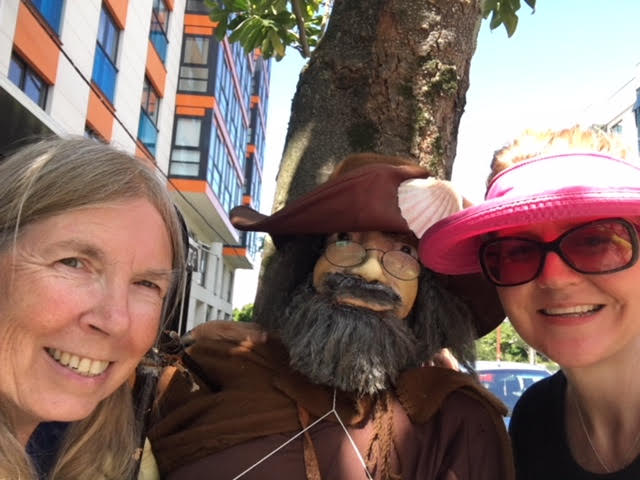 We couldn't resist a selfie with the peregrino!