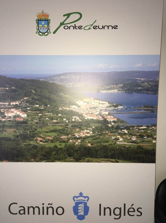 The muni albergue had a nice poster of Pontedeume