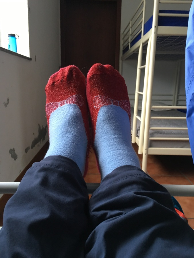 My Dorothy slipper socks are a comforting reminder that there's no place like home!