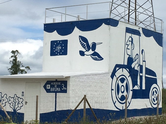 A power station with fun murals