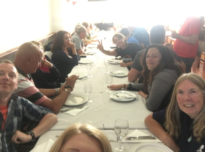 I attempted a selfie with everyone at the table