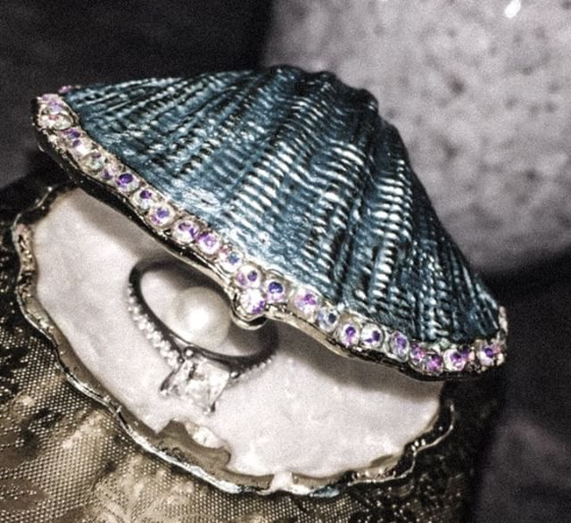 The shell that the ring bearer will use on their wedding day