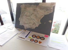 The Wise Pilgrim Camino Map w/pins on my Camino starting points.