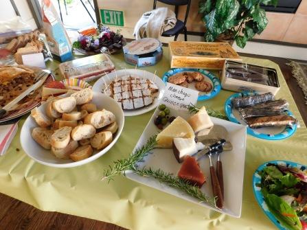 Spanish cheeses and quince paste, tarta de Santiago, and more treats!