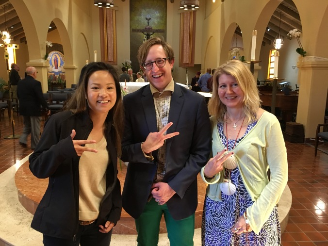 Three of us, a Buddhist, a Protestant and a Catholic, were confirmed, after finding our way and letting go. Peace - Out!