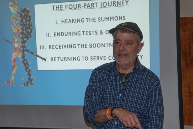 Alexander Shaia presenting about the Four-Part Journey
