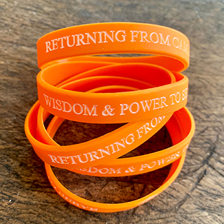 Returning From Camino wristbands