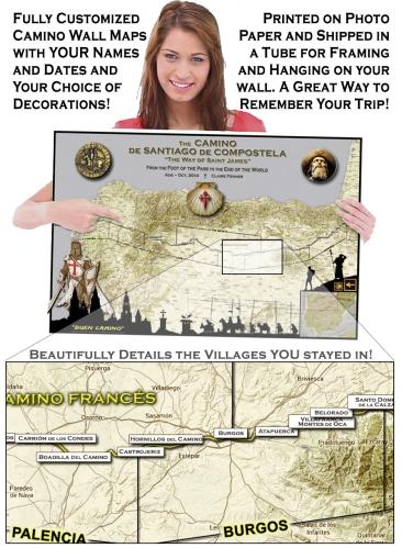 Custom Camino Maps