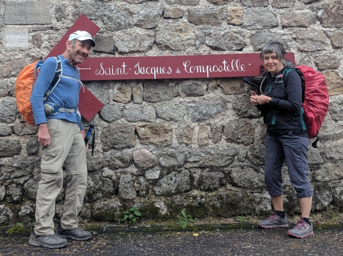 Andy Cohn and Kate Stewart on the Chemin de Le Puy