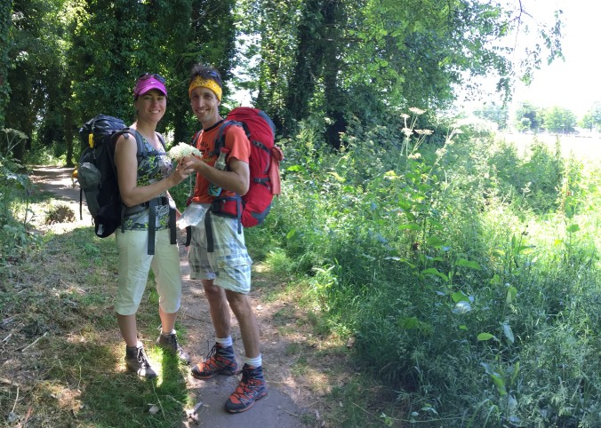 Elena and Dobri on the Camino